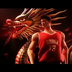 NBA stars... yao ming and lebron james unity... the third spot of coca-cola for Beijing 2008 Olympic Games...