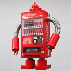 Coca-Cola has oversized robot vending machines lumbering around Tokyo pinching the heads of people who don't buy a coke.