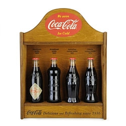 Coca–Cola have reproduced four of their very first bottle designs for the brand's 125th Anniversary. Available at Selfridges as a box set or individually!