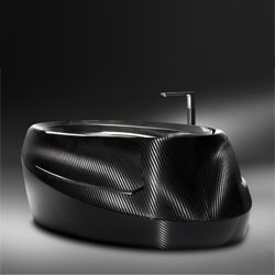 Carbon Fiber Bathtub by Corcel.