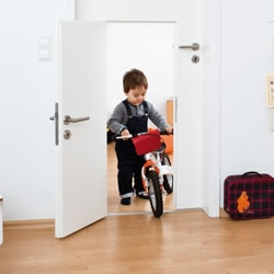 Minjjoo Children's Door, it's basically a small door within a regular door, with its own lock and handle, Cool!