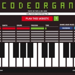 CODEORGAN is a site which makes a unique song out of your website.