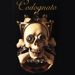 "Attilio Codognato jewelry.  Check out the diamond 7 skull necklace at the end of the PDF and the ""Moretto"" skeleton brooch"