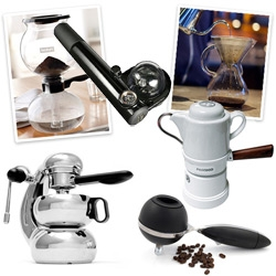 "Coffee! Coffee! Coffee! A roundup of coffee/espresso ""machines"" that have no cords and look gorgeously intriguing around your house/kitchen/car!"