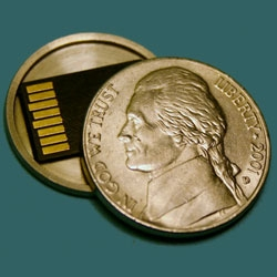 Hollow Spy Coins! To hide Micro SD cards!