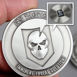 ITS Tactical's ITS Challenge Coin (Spy Coins Edition) ~ you can hide a microSD card with all your secrets within...
