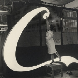 Coca Cola book documenting the design and build of their first neon sign for Piccadilly Circus, in 1954...