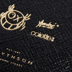 "Smythson is one of the leading companies when it comes to high quality notebooks. They recently colloborated with Parisian artist André and French retailer colette to create a hard-bound black book. On the front youll notice an illustration by the artist with the word ""METAPHYSIQUE"". The back youll find Andre's signature logo as well as the rest of the parties involved. Available now at colette."