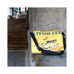 im guessing these guys are well known, but i still like the mix fo recycled junkiness with the fish images.  =)