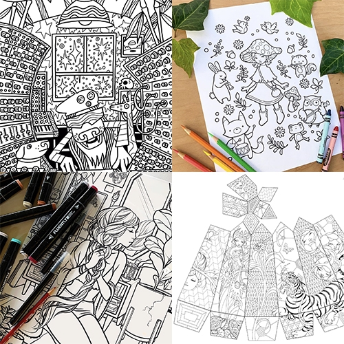 Coloring Pages! They are popping up from many of our favorite artists these days to help destress adults or inspire/amuse kiddos. Here are some from Audrey Kawasaki, Pete Fowler, James Jean, Jacquelin de Leon, and perhaps more to come...