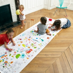 COLOROMY - A giant 3 meter long coloring page! No more just coloring in the lines, now kids can express themselves alone or with friends, without limits!