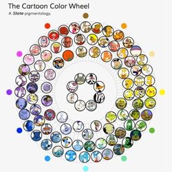 Do you know the colors of your cartoons? Beautiful color wheel that captures the entire spectrum of cartoons, from Slate.