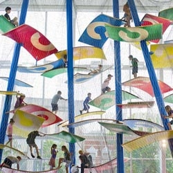 'Luckey Climber' fun indoor playground at Columbus Commons in Columbus, Indiana.