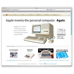 Ever wonder what Apple.com [would have] looked like in 1983? This is a great mock up of what Apple.com looked like when Ronald Reagan was still in office!