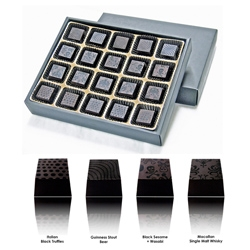 Limited edition Black Collection from Compartes Chcolatiers debuts today. The collection features Macallan Single-Malt Scotch, Black Truffle, Black Sesame + Wasabi and Black Guiness Stout Beer truffles.