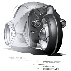 Disney's 'Tron: Legacy' concept art. Sketches and high res renders.