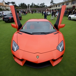 Concept Cars filled the putting green at Pebble Beach for Concours D'Elegance, take a peek at the McLaren MP4-12C GT3, SSC Tautara, Lamborghini Aventador, Porsche 918 RSR, Jaguar C-X75, and much more.