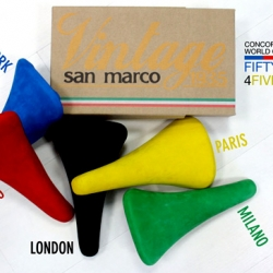 San Marco, an Italian manufacturer, has launched a collection of exclusive, limited edition bike saddles to honor five of the countries involved in the ninth annual Bicycle Film Festival.