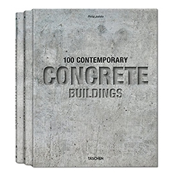 100 Contemporary Concrete Buildings from Taschen. Another concrete building book, but they are so beautifully intriguing to look at.