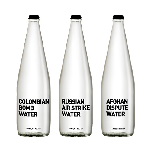 ConflictWater is water inspired by some of the finest water conflicts. They serve it so you can taste the inequality.