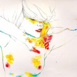 Beautiful water color illustration by Conrad Roset.