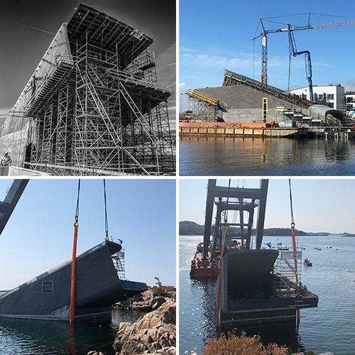 Under Restaurant in Lindesnes, Norway shares some of the construction images of the underwater restaurant on their Instagram! Fascinating to see how they pulled it off...