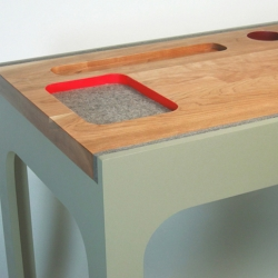 Looking for a cool new desk? Check out Zoe Mowat's Contain Writing Desk.
