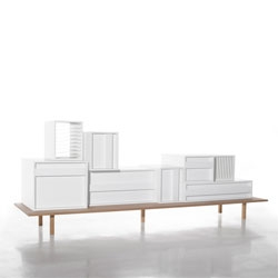 Container, a modular sideboard system by Alain Gilles for  Casamania.