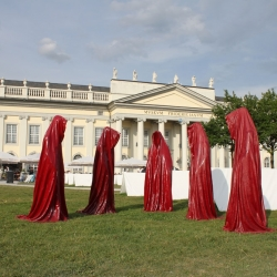 Austrian artist Manfred Kielnhofer's The Guardians of Time at Documenta 13 in Kassel, Germany. Uninvited, it is more of an occupation than an installation!