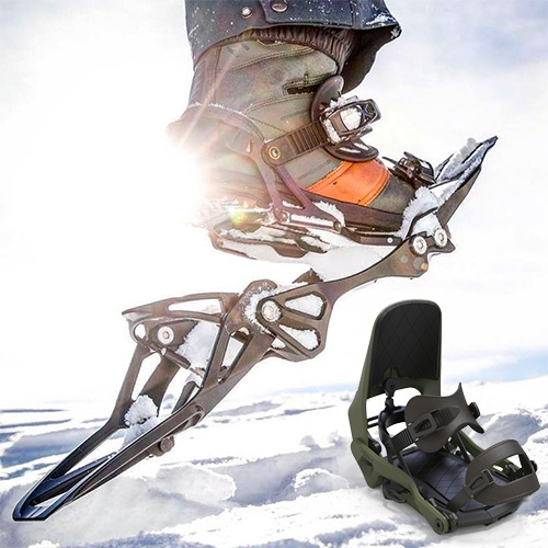 "Ross Snow Tech (RST) Convert - The world's first and only snowboard binding that directly ""converts"" into a snowshoe - and it converts in 30 seconds or less!"