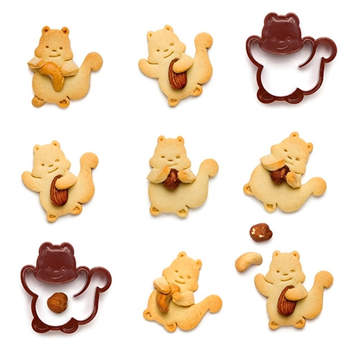 Adorable Monkey Business Nutter Cookie Cutters really add a fun dimension as these squirrels arms hold nuts, candy, etc.