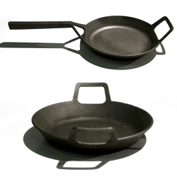 Borough Furnace's 9.5″ and 11.5″ skillets made from 100% upcycled iron.