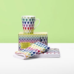 "To celebrate that they are turning 110 Swedish KF is releasing a series of limited cups, napkins, and coffee covered with a classic pattern called ""Falling leaves"" by the iconic Swedish designer Stig Lindberg."