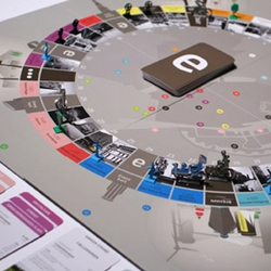 great info-graphics and design by Hello Monday for the Copenhagen in a Box board game.