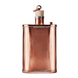 The Great American Pure Copper Flask by Jacob Bromwell.