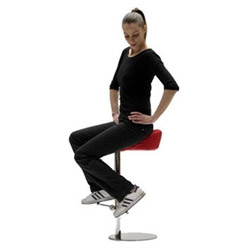 Denis Santachiara has designed this stool with a pair of pedals. It allows to make exercise being steady.