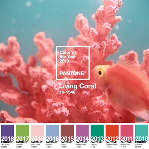 Pantone picks 16-1546 Living Coral as the color of 2019! (Somehow this reminds me of mid-90's jcrew)