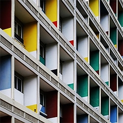 Pictures of Corbusierhaus, one the housing complex done by Le Corbusier. This one is located in Berlin, Germany.