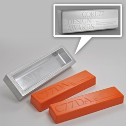 The Core77 Design Awards recognize that creation is rarely the result of solitary effort. Rich Brilliant Willing designed the inaugural award ~ an aluminum mold that can me used to cast lots of them! in anything from jello to crayon wax and more!