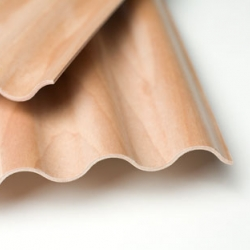 Corelam is a corrugated plywood with exciting new possibilities for uses in architecture and design.