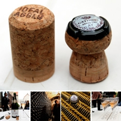 Champagne Corks - before! after! and a video of how they come to be mushroom shaped! Also a look at the small family run grand cru champagne house, Gatinois. Delicious, and gorgeous blush color!