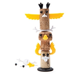 Monkey Business has expanded their Corkers (designed by Reddish Studio) to now have a Totems set. Make totem poles with your corks by pushpinning features on them!