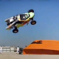 Hot Wheels with driver Brent Fletcher broke another world-record for the Corkscrew Jump with 92 feet at the Hot Wheels Test Facility!