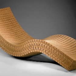 Cortica lounge chair by Daniel Michalik allows user to feel as though they're floating on a cork in the ocean.