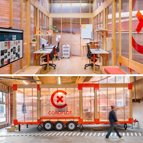 Core77 has a look into the making of the Coroflot Mobile Work Unit (MWU) in collaboration with LOS OSOS.