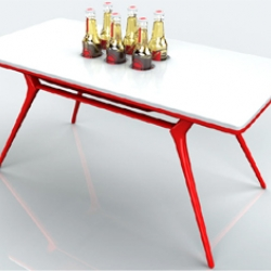 As described: beer + table = beer table. although I would guess that it can also be available as a soda option.