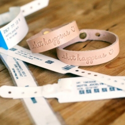 Corter Leather from New England present the 'Shit happens' bracelet. A stylish and funny way to raise money for Crohn's and ulcerative colitis patients.