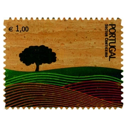 Cork is not only used to isolate sound and build cork stoppers. Check the 1st cork stamp in the world, made by designer João Machado. Portugal is responsable for more then 50% of world cork, just in case you want to know!