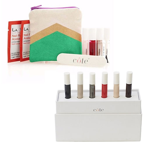Côte Nail Polish Traveler Gift Sets - adorably tiny nail polishes, perfect for travel touch ups or manicures.