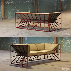 Hourglass Couch - New concept by District Millworks out of Los Angeles., a design-build shop.